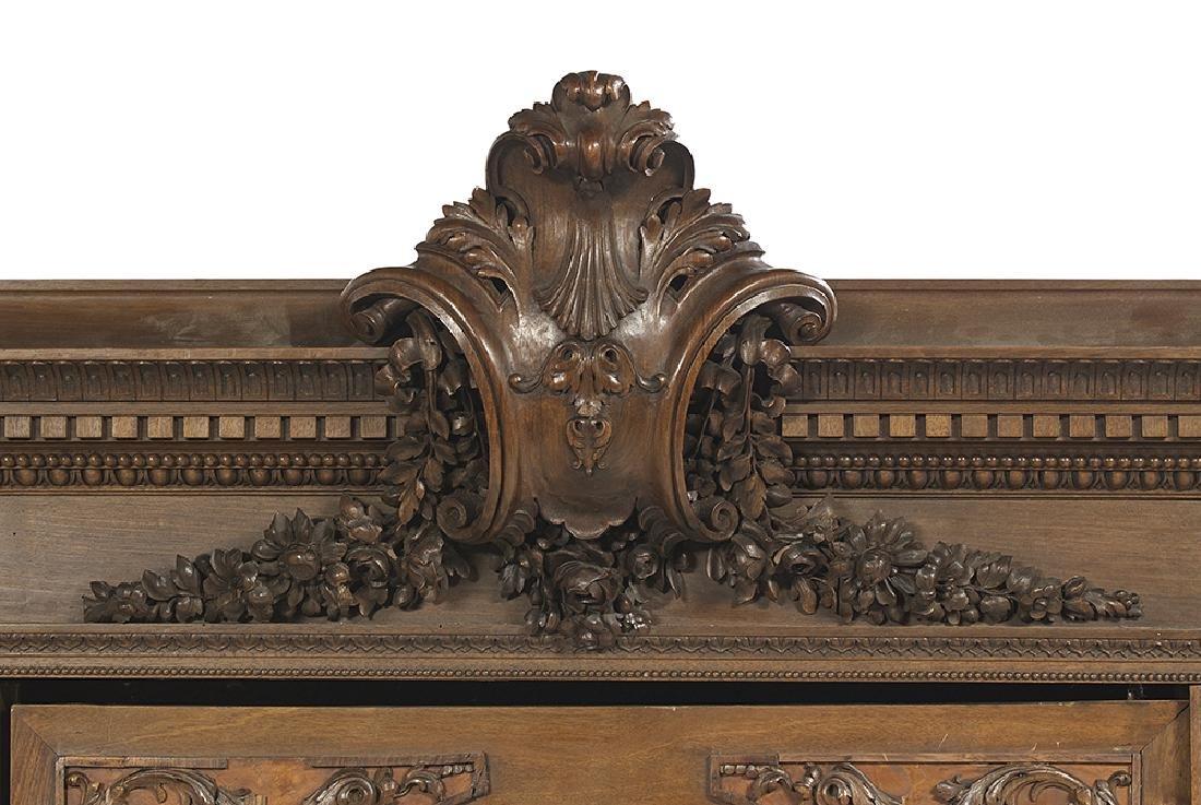 Impressive Continental Carved Walnut Armoire - 4