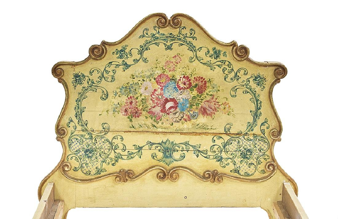 Pair of Italian Rococo Polychrome Twin Beds - 2