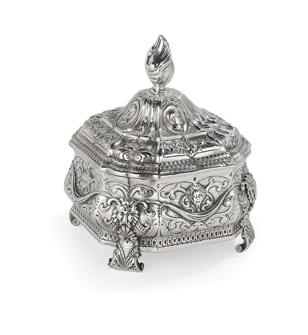 Dutch Silver Tea Caddy