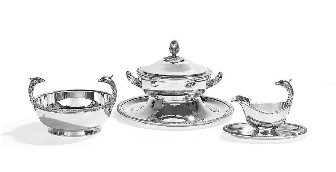 Four Pieces of Christofle Silverplate Hollowware