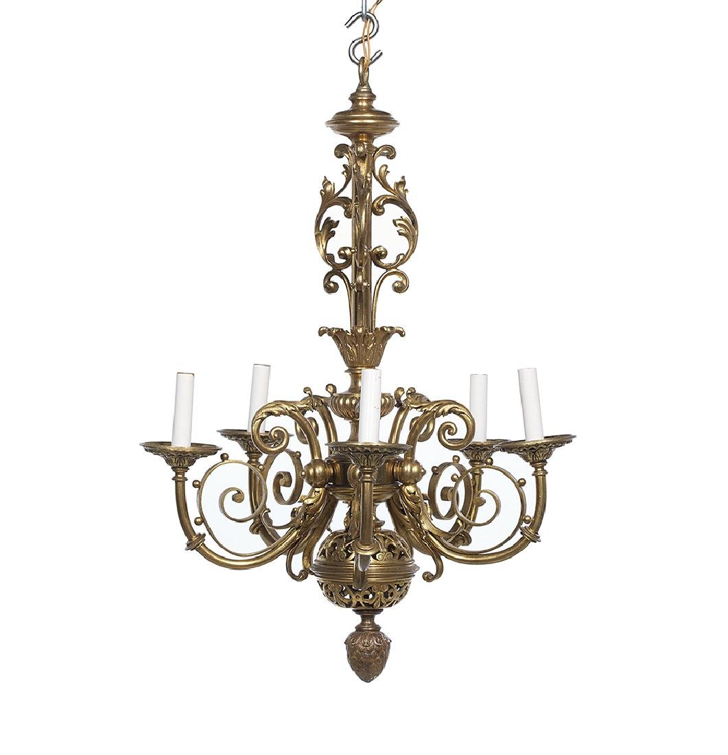 French Gilt-Bronze Chandelier