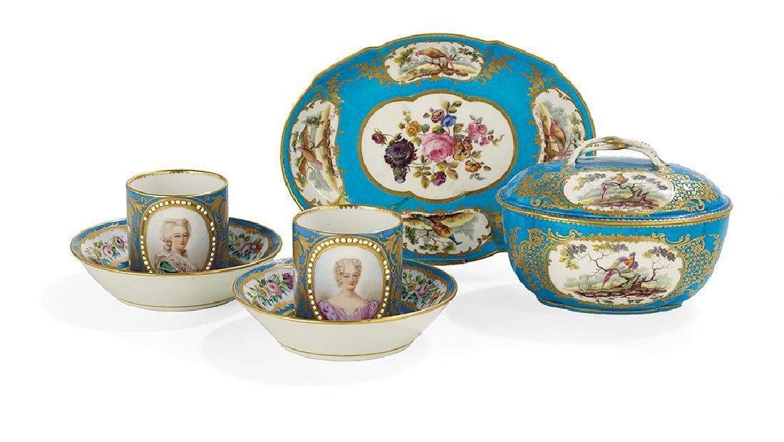 6 Pieces of Sevres & Vincennes-Sevres Porcelain