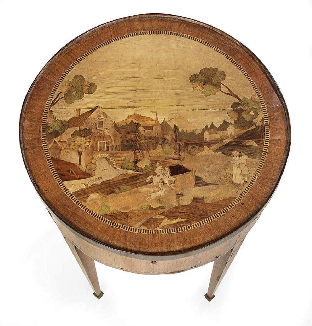 Northern Italian Mixed Woods Center Table - 3