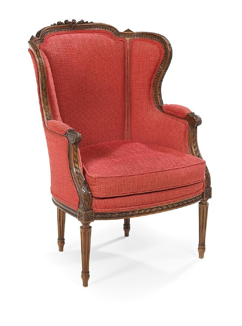 Louis XVI-Style Fruitwood Bergere avec Orielles - 2
