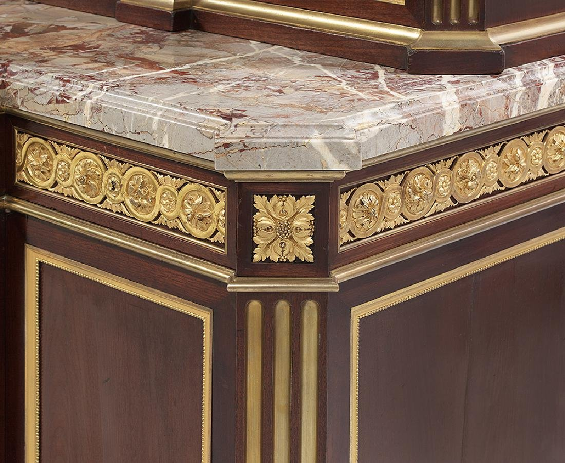Henry Dasson Mahogany and Marble-Top Grand Buffet - 5