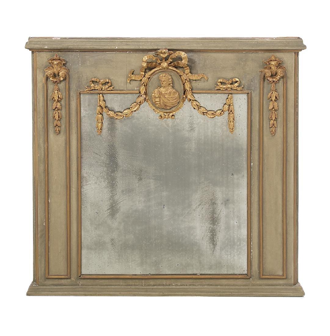 Louis XVI Parcel-Gilt Mantel Mirror