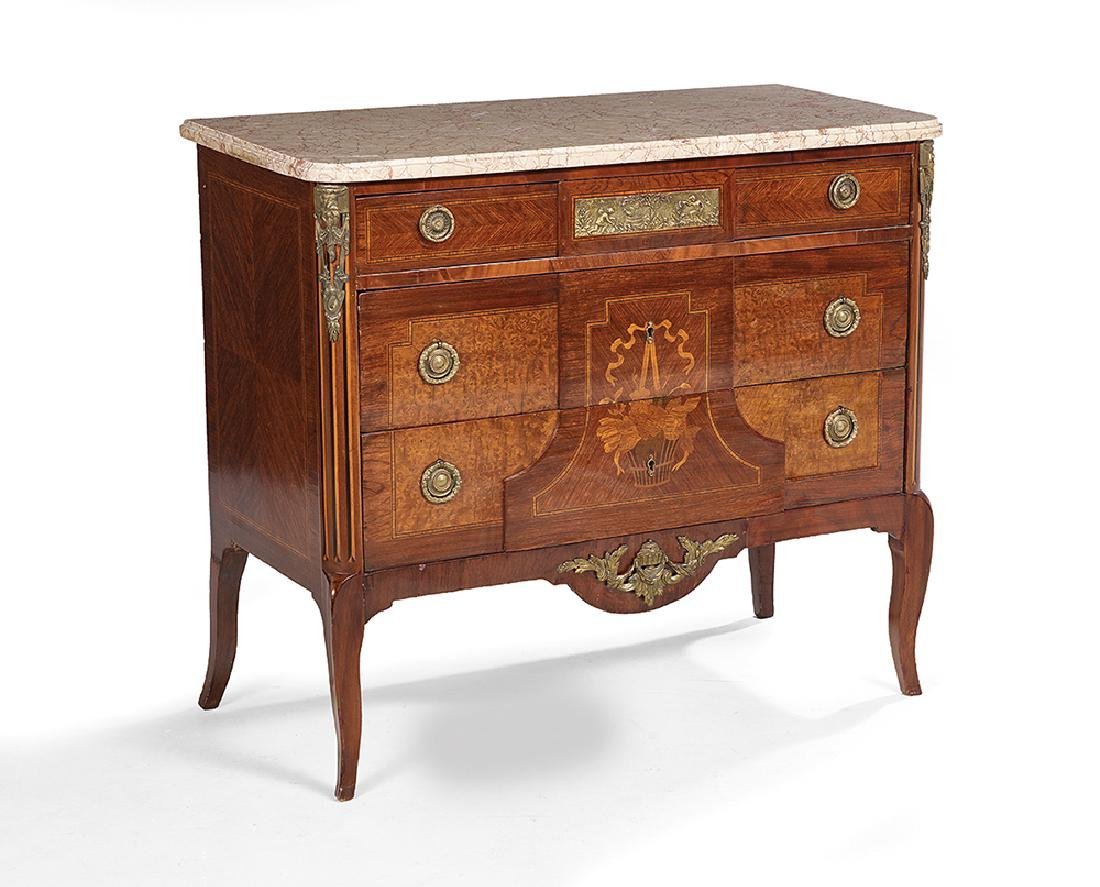 Kingwood and Marble-Top Commode - 2