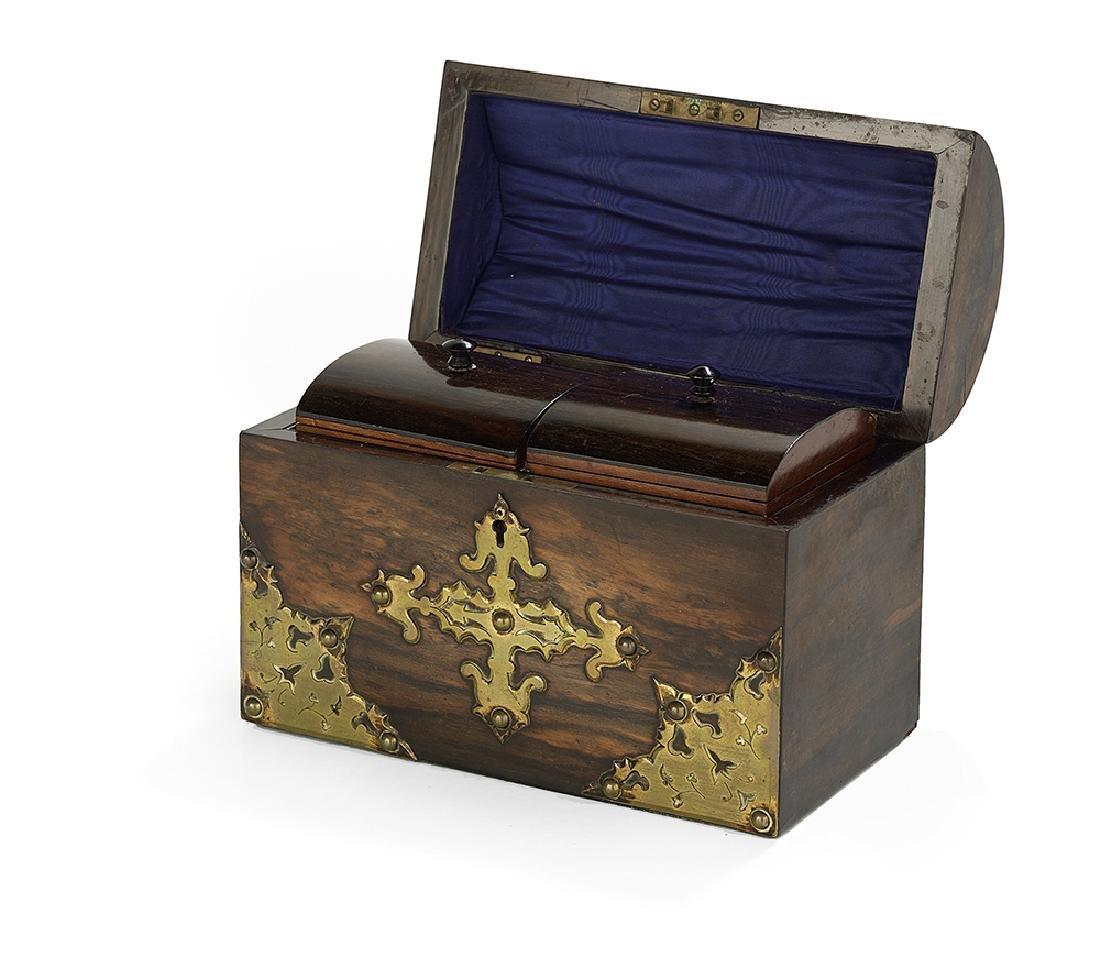 Elizabethan Revival Calamander Tea Caddy - 2