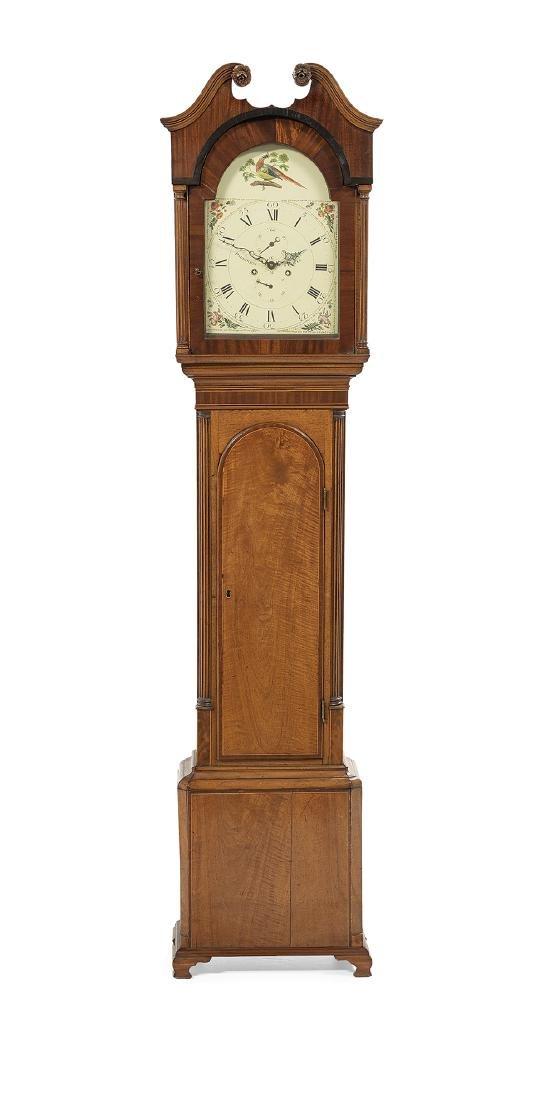 George III Mahogany-Veneered Tall Case Clock