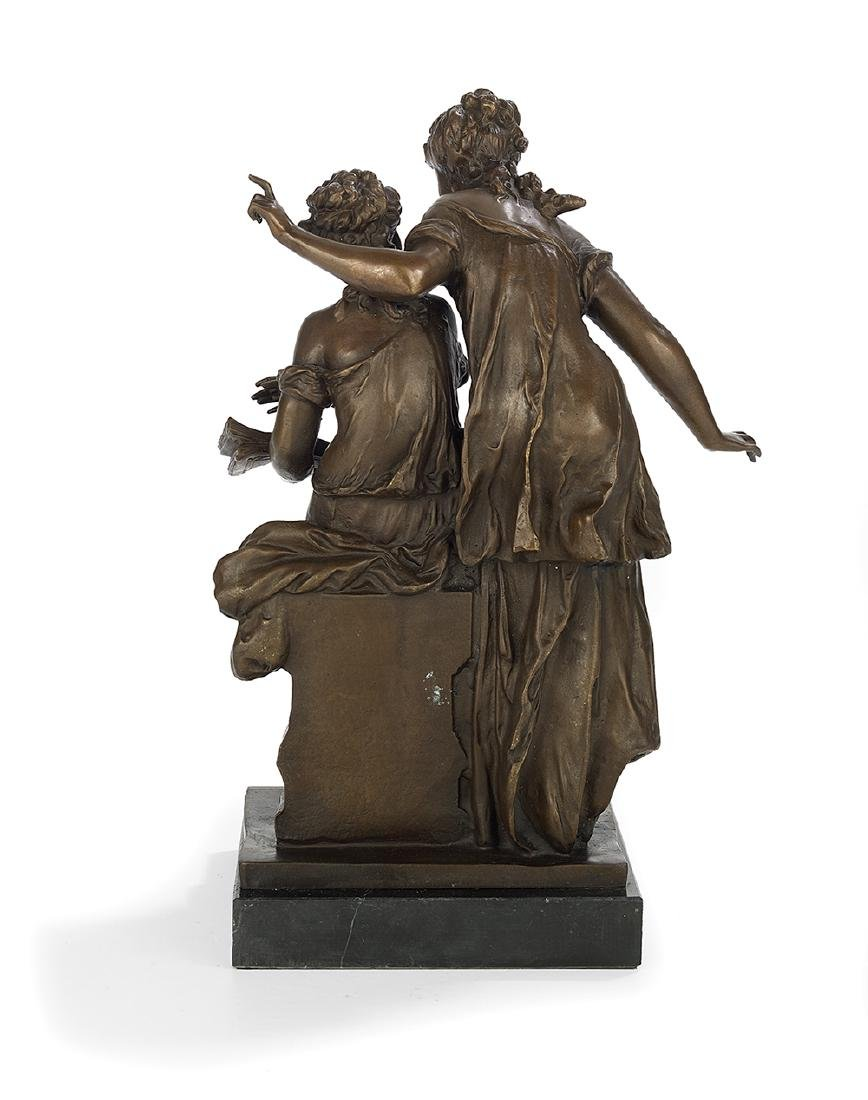 "French Patinated Bronze of ""Two Women Reading"" - 2"