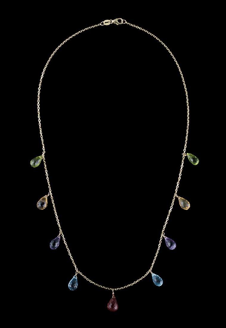 Multicolored Stone Necklace