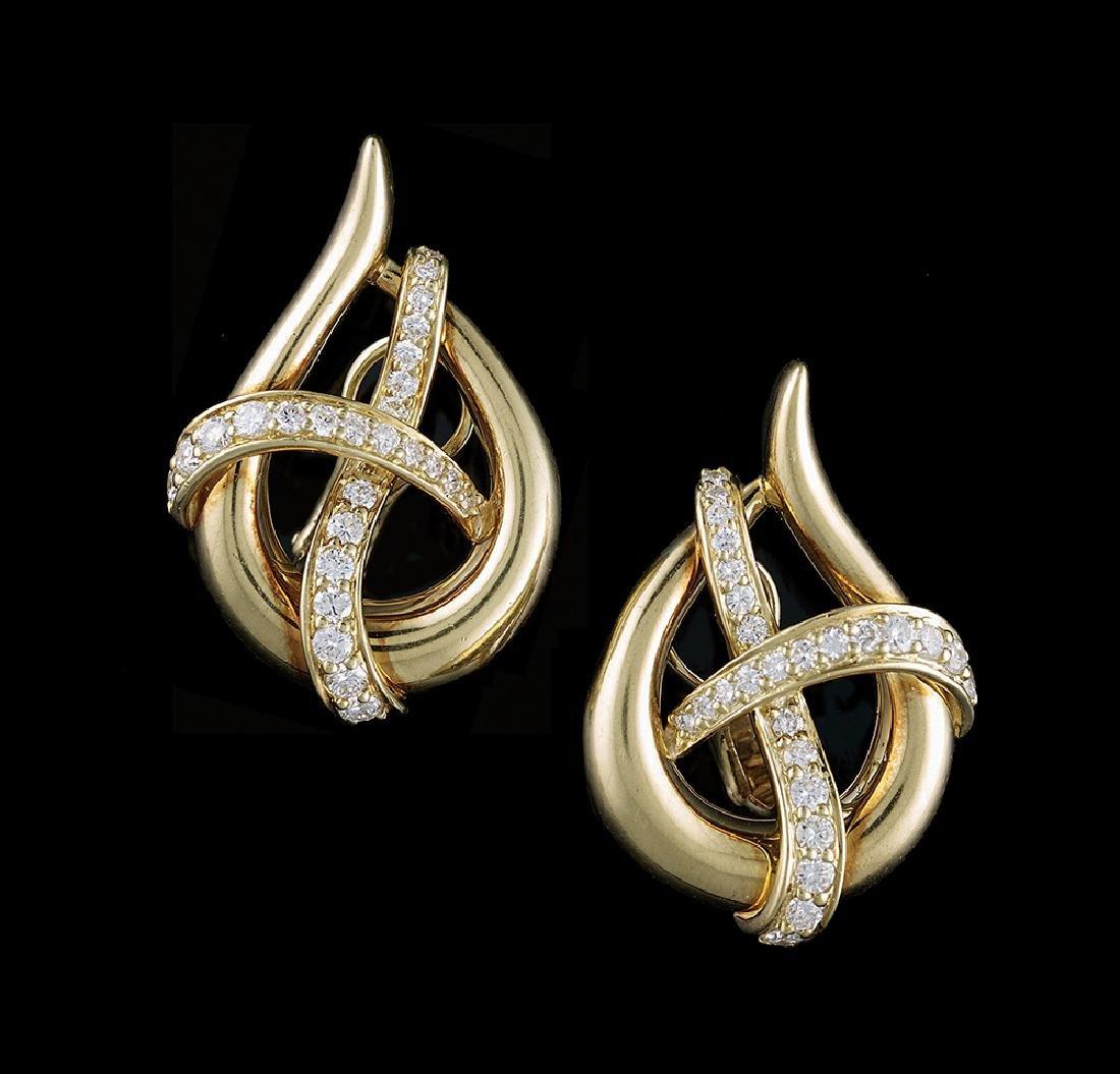 Jose Hess Diamond Earrings