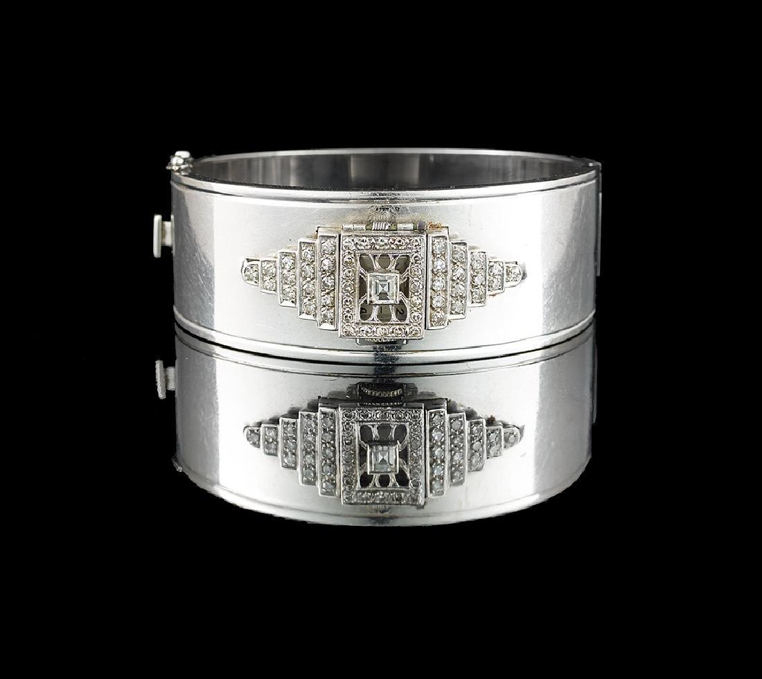 Diamond Bangle Bracelet/Watch