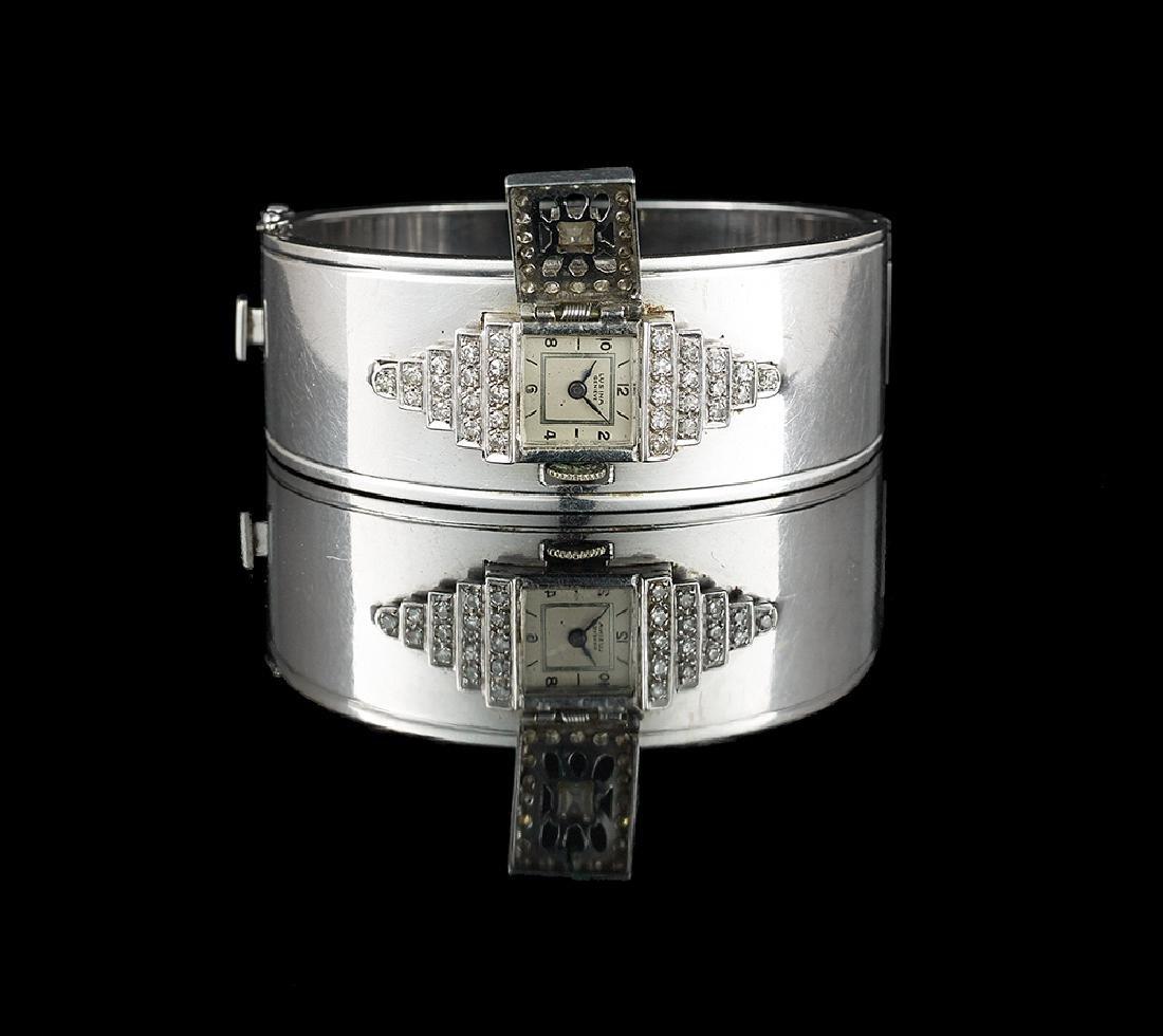Diamond Bangle Bracelet/Watch - 2