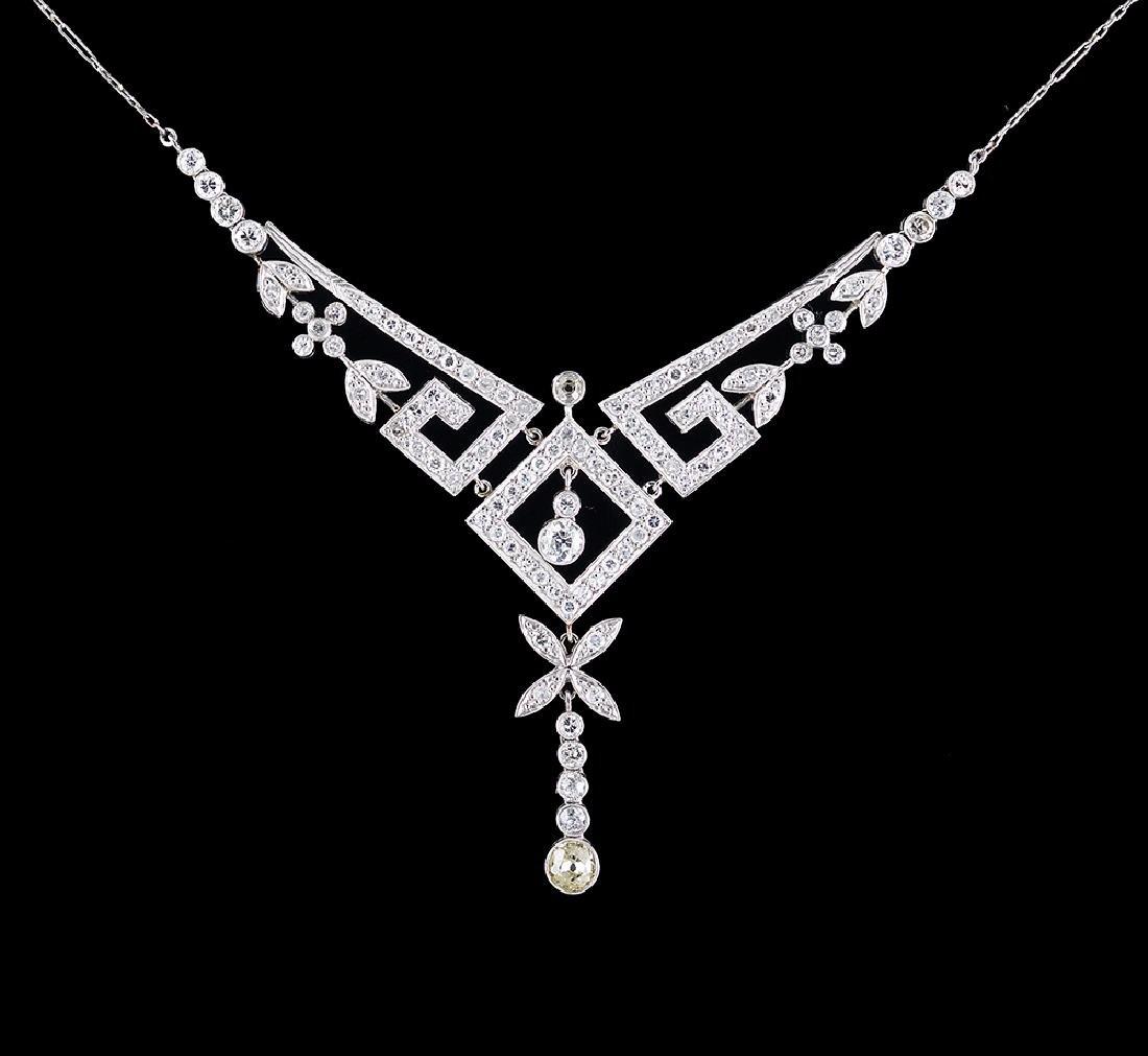 Platinum and Diamond Art Deco Necklace