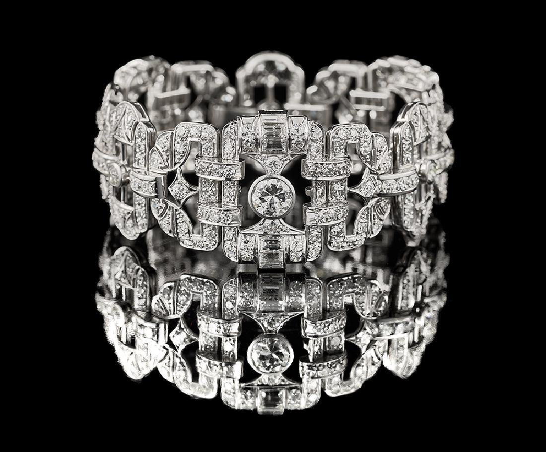 Stunning Period Art Deco Diamond Bracelet