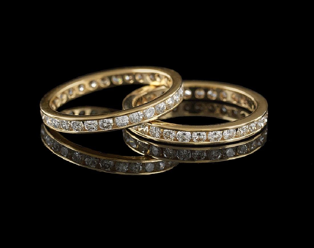 Two Diamond Eternity Bands