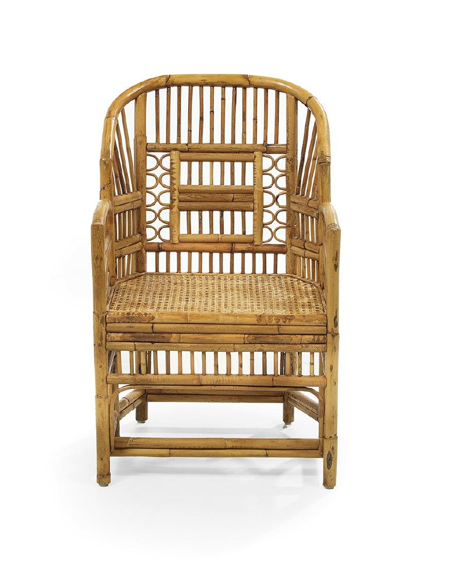Eight Regency-Style Bamboo and Cane Armchairs - 2