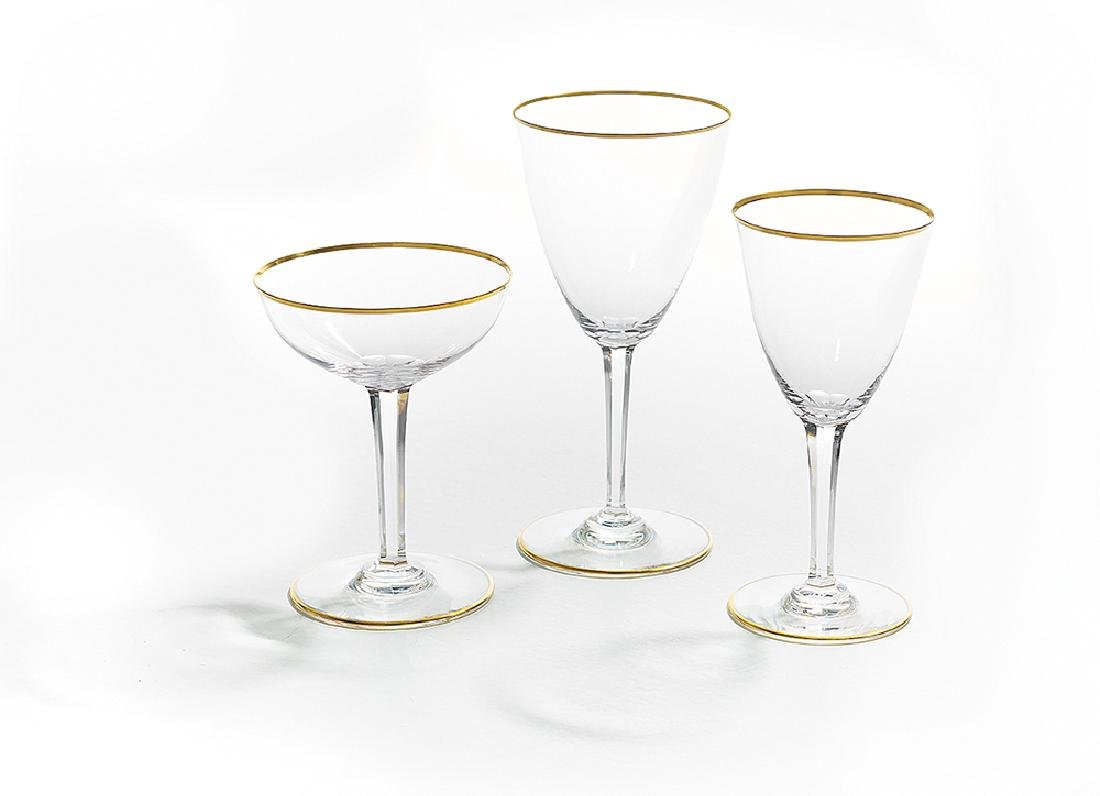 """Service of Baccarat """"Directoire"""" Crystal Stemware"""