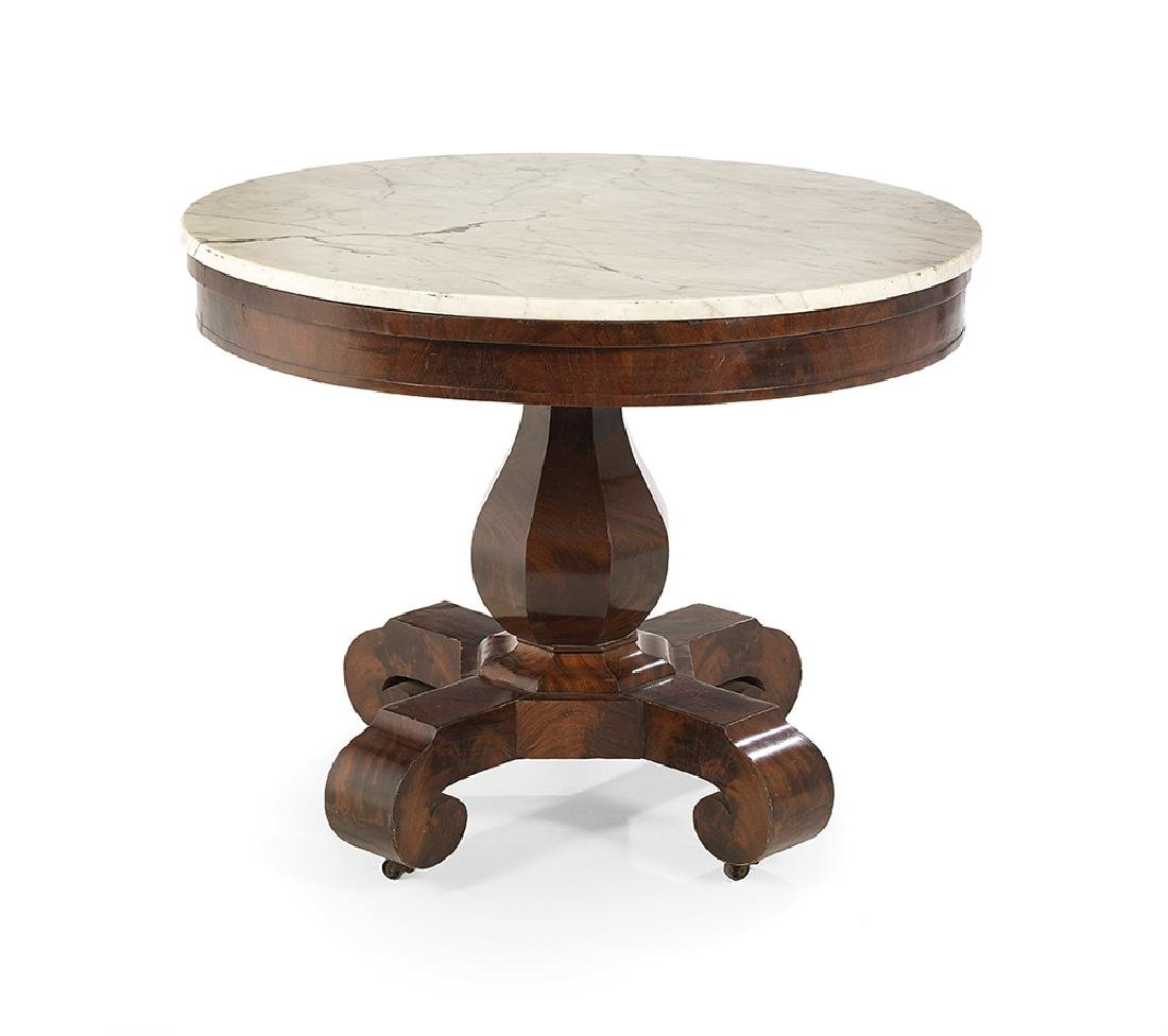 American Late Classical Mahogany Center Table