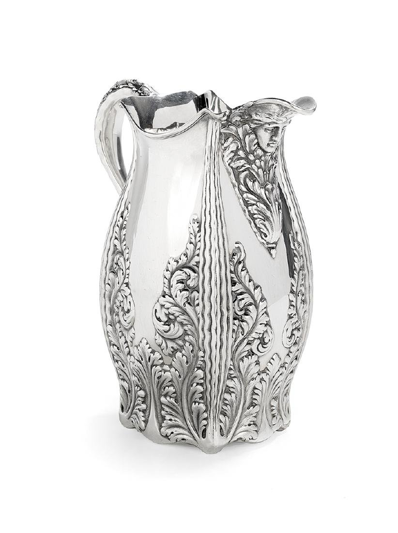 Whiting Gilded Age Sterling Silver Water Pitcher