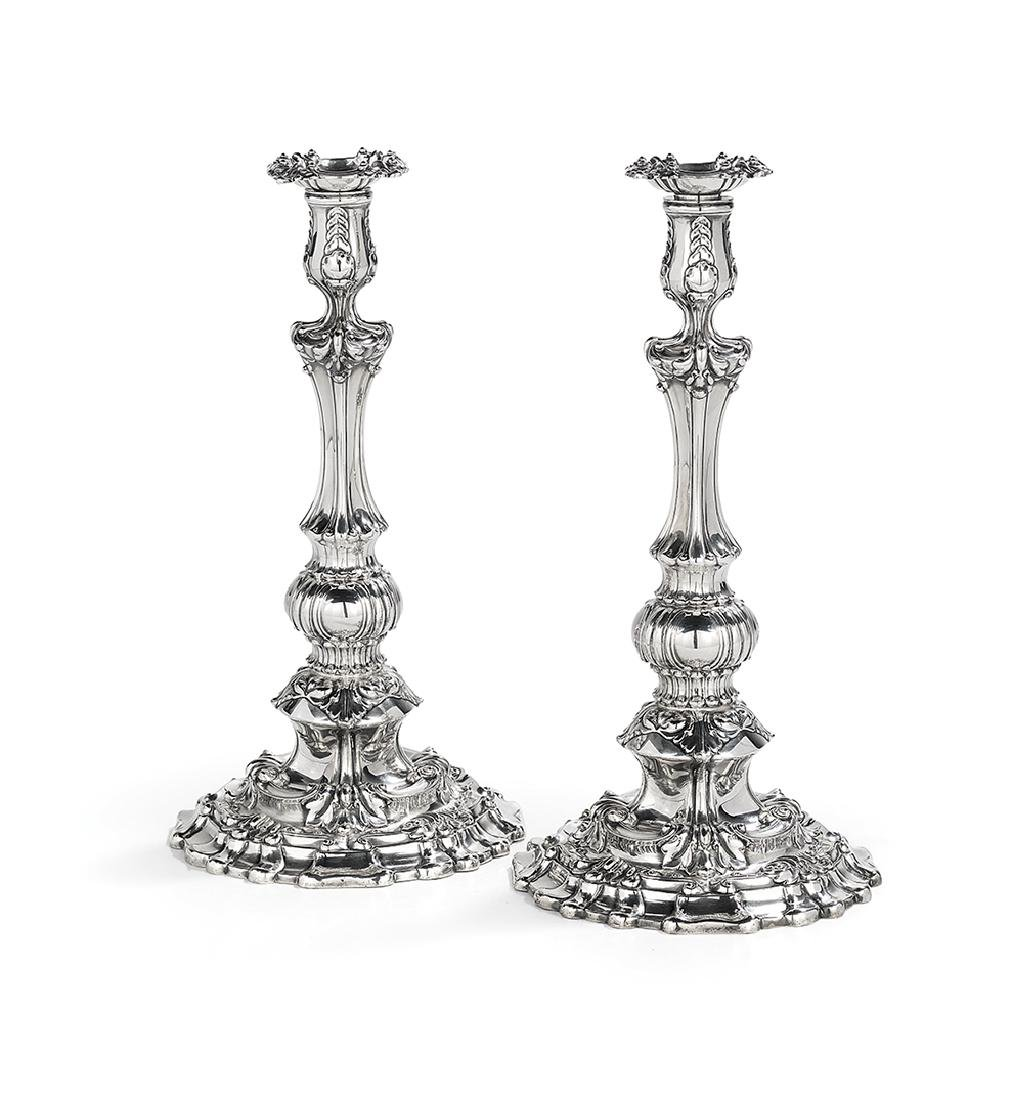Pair of Tiffany Sterling Silver Candlesticks