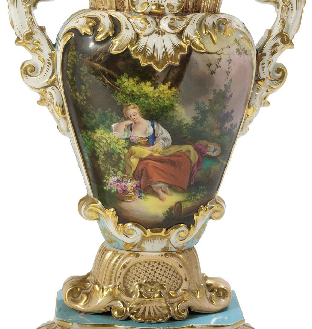Pair of Paris Porcelain Vases - 4