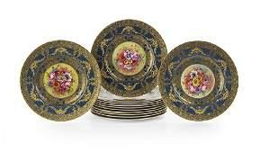 Set of Twelve Royal Worcester Service Plates