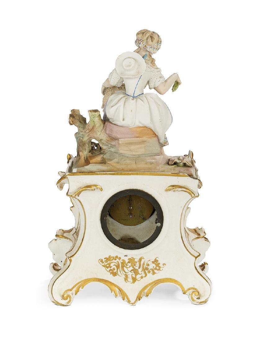 Paris Porcelain Figural Mantel Clock - 2