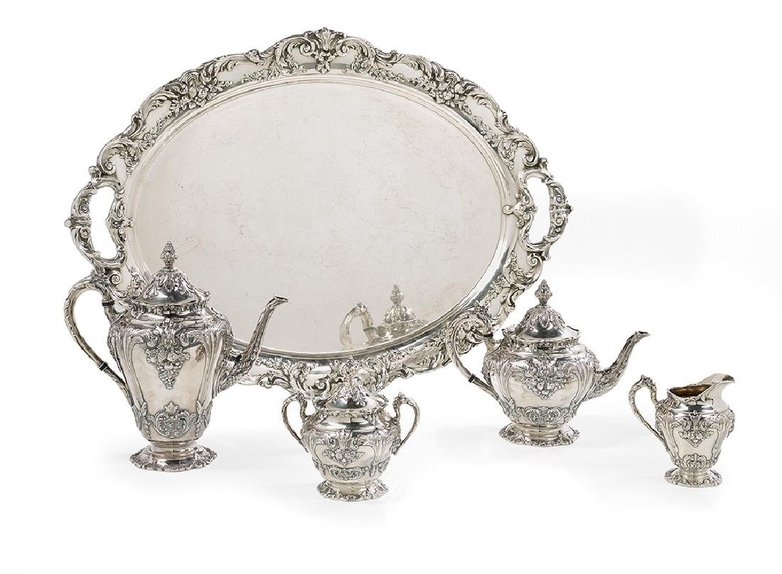 "Five-Piece Reed & Barton ""Renaissance"" Tea Set"