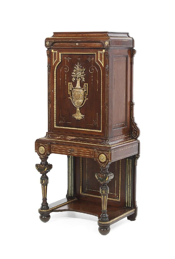 American Neo-Grec Bronze-Mounted Music Cabinet - 2