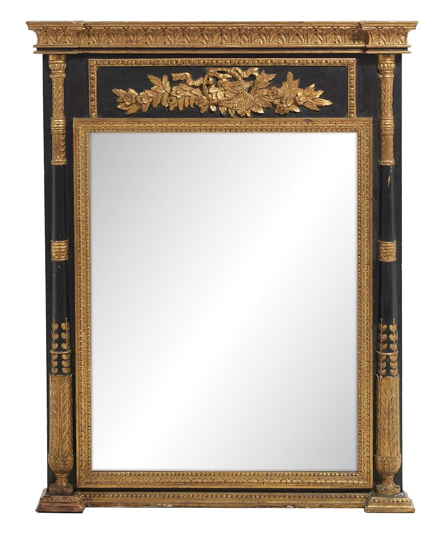 Directoire-Style Parcel-Gilt Looking Glass