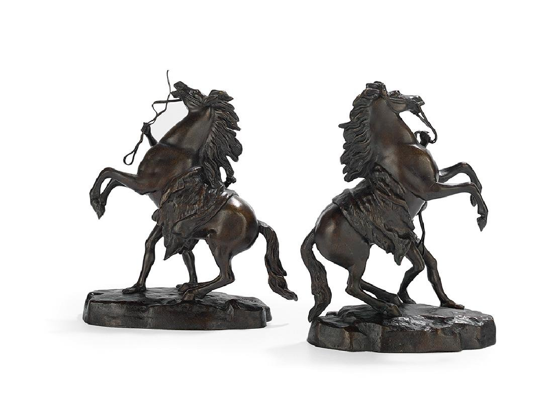 "Pair of French Bronzes of the ""Marly Horses"" - 2"