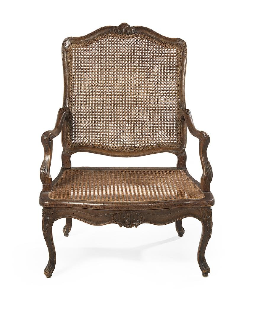 Provincial Louis XV Fruitwood Fauteuil