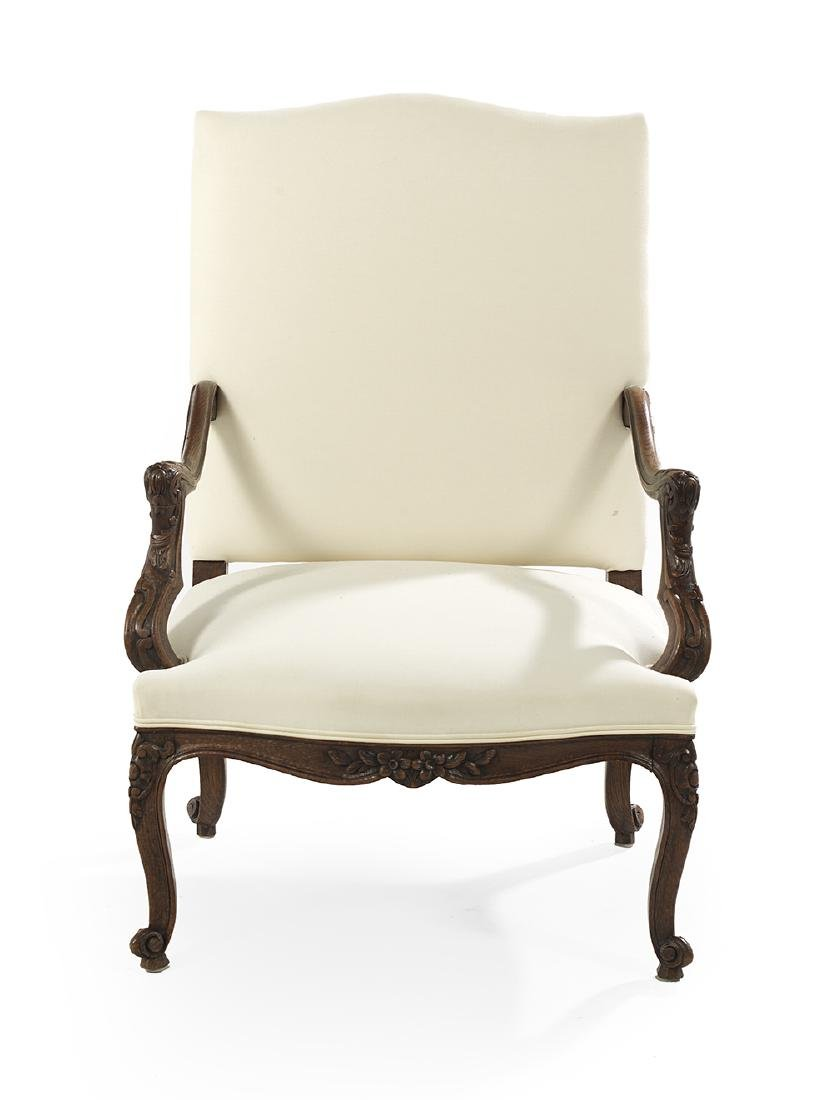Regence-Style Fruitwood Fauteuil