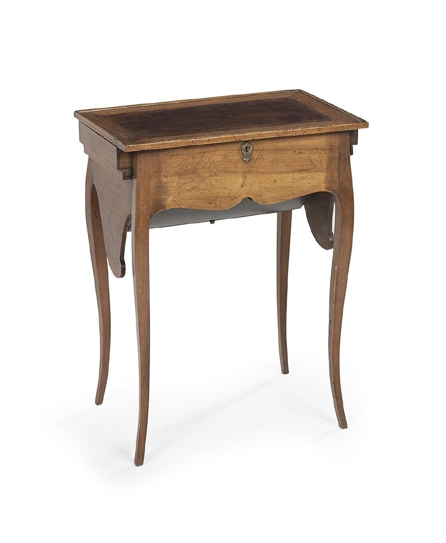 French Provincial Fruitwood Secretary Table