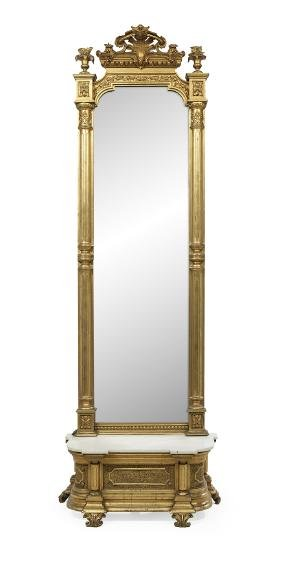 Louis-philippe Pier Mirror And Marble-top Stand