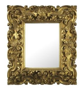 Continental Baroque-style Giltwood Mirror