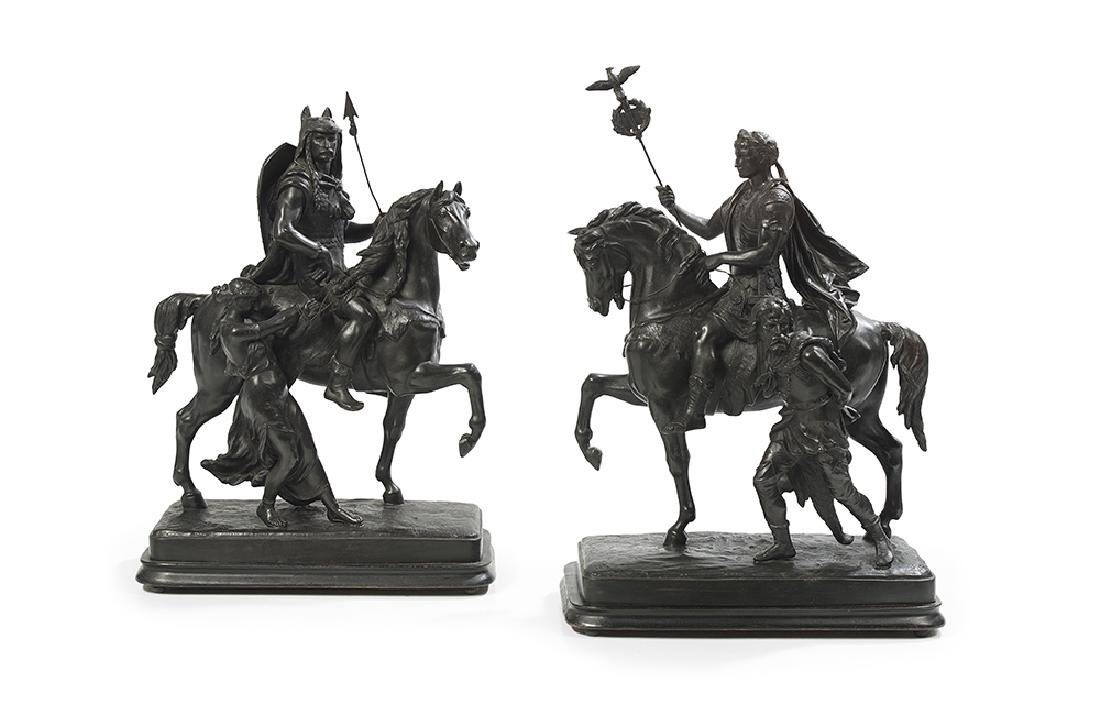 Equestrian Figures of Caesar and Vercingetorix