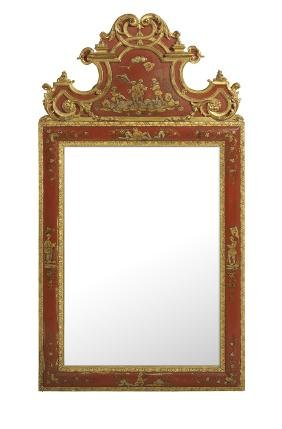 George Ii-style Chinoiserie Mirror