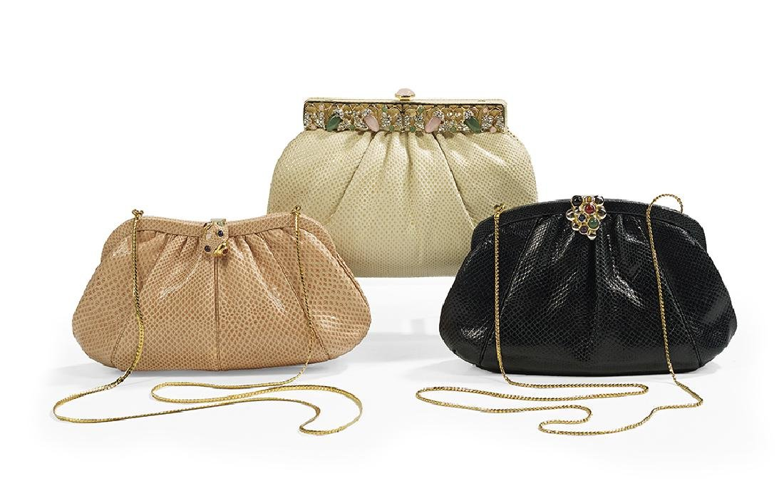 Three Vintage Judith Leiber Convertible Clutches