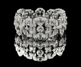 Stunning Period Art Deco Diamond Bracelet