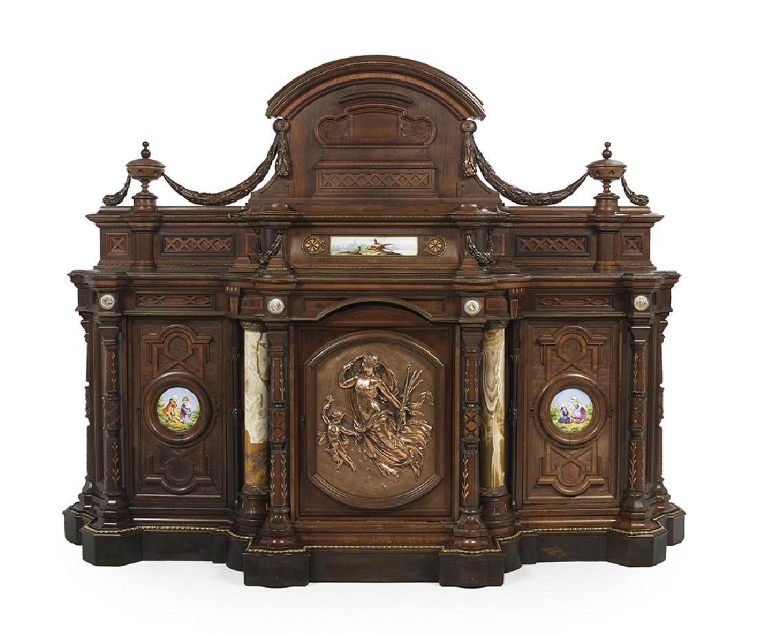 Renaissance Revival Rosewood Cabinet