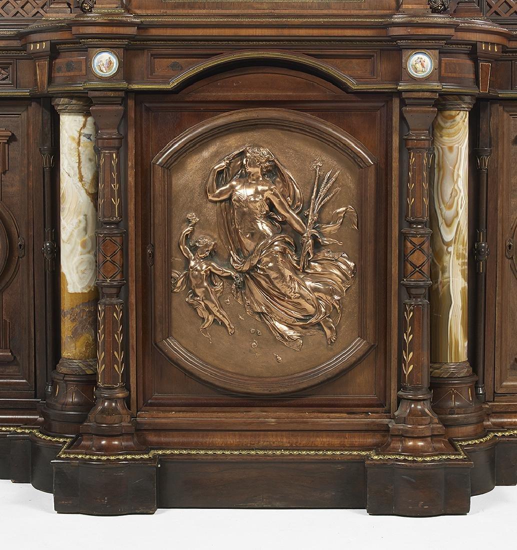 Renaissance Revival Rosewood Cabinet - 2