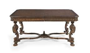 American Chestnut, Cherry and Walnut Dining Table