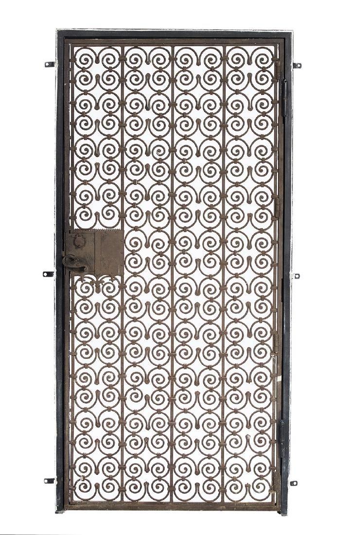 Spanish-Style Wrought Iron Grillwork Door