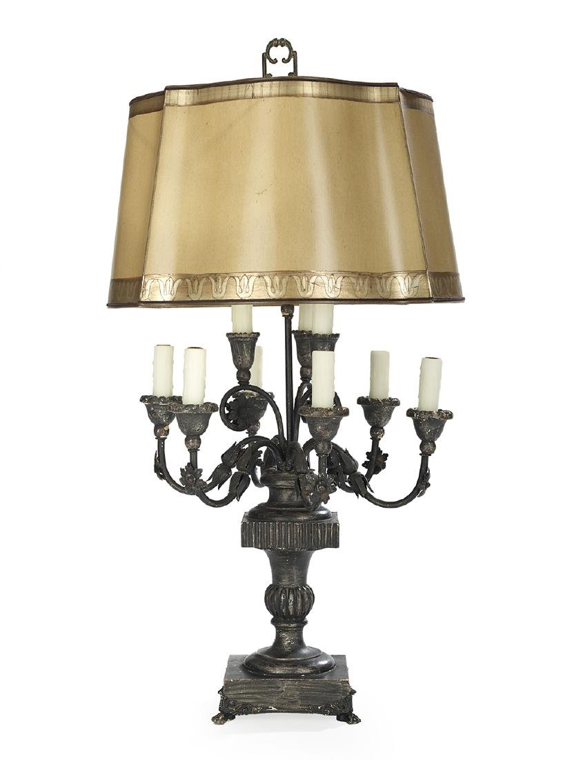 Wood and Metal Nine-Light Candelabrum