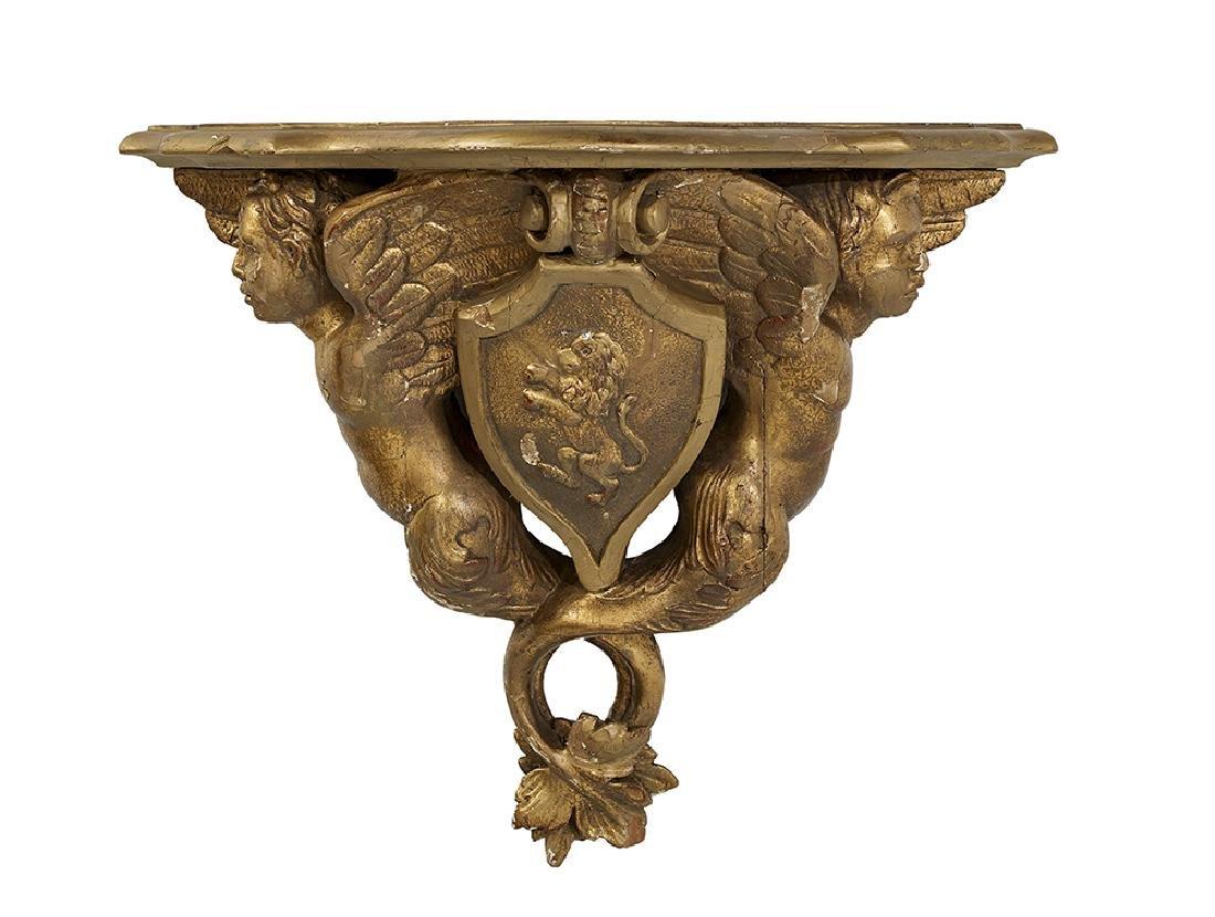 Carved Giltwood Bracket Shelf