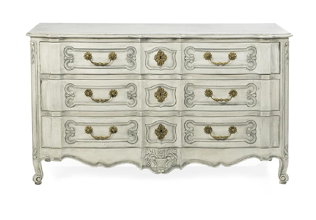 Louis XV-Style Painted Chest