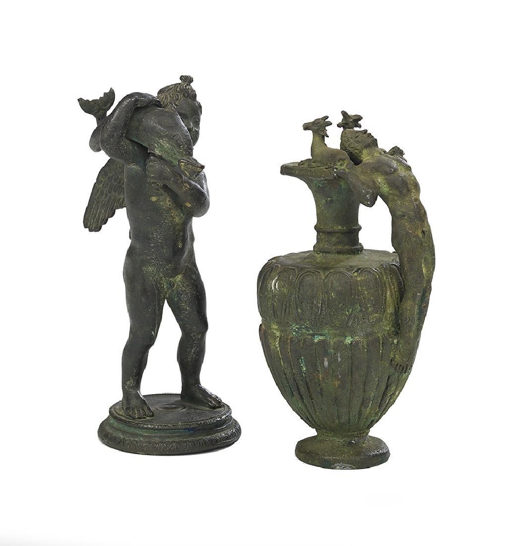 Two Patinated Bronze Grand Tour Souvenirs